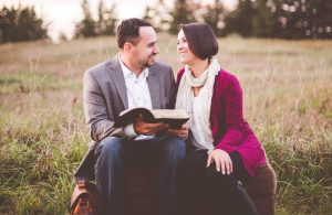 couple sharing bible message together