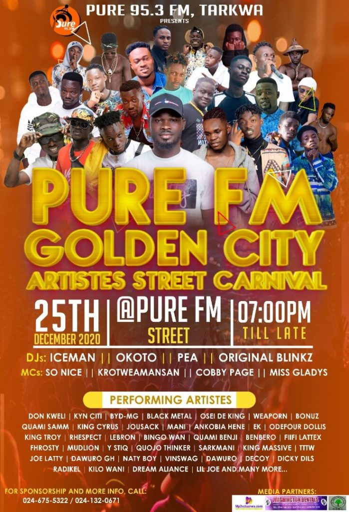Pure FM Golden City Artistes Street Carnival Set for December 25th
